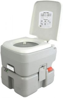 SereneLife Outdoor Portable Toilet with Carrying Bag